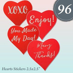 "Other - 96  Heart Stickers 2.5"" x 2.5"""